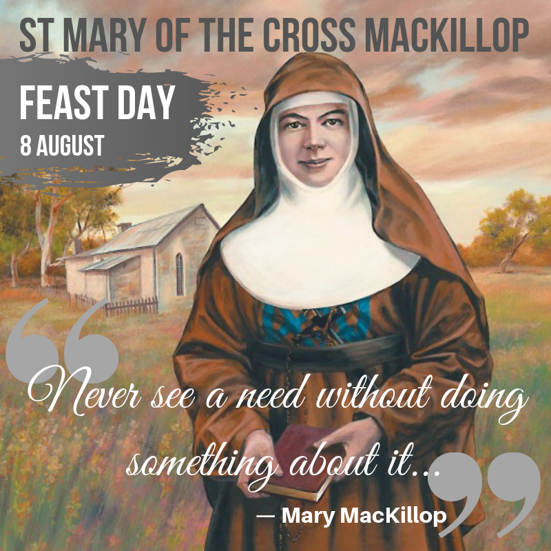 """Catholic Education Diocese of Wollongong on Twitter: """"Today is the feast  day of St Mary of the Cross MacKillop – our first Australian Saint 🙌🙏 May  we all take up the challenge"""