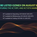 Image for the Tweet beginning: XCT will be listed on