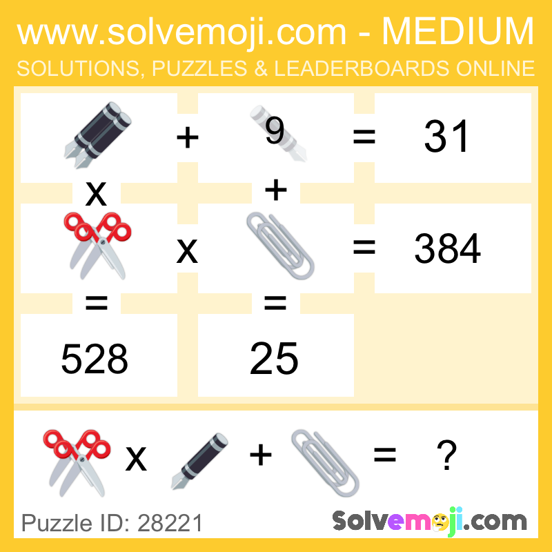 Check out this cool medium grid puzzle from Solvemoji, can