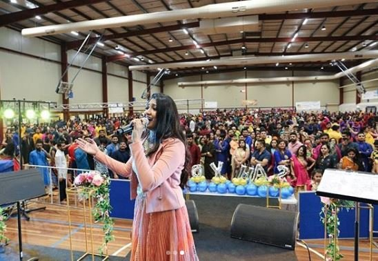 .@BhoomiOfficial performs to a packed house in #Melbourne