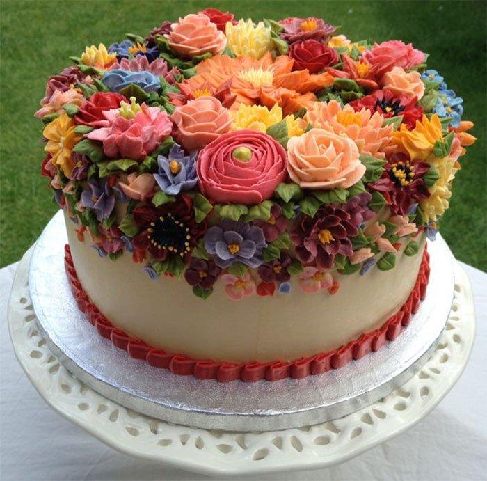 Торт с днем рождения женщине красивые фото, своими руками