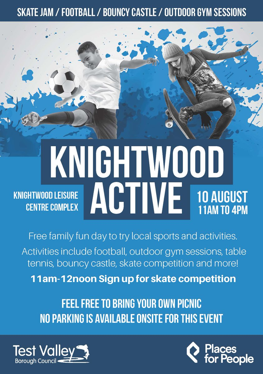 Looking for a fun, active, free event for the weekend? Knightwood Leisure Centre is hosting a family fun day on Saturday! Activities including football and table tennis will be on offer from 11am until 4pm. Theres no need to book, so just turn up! ⚽