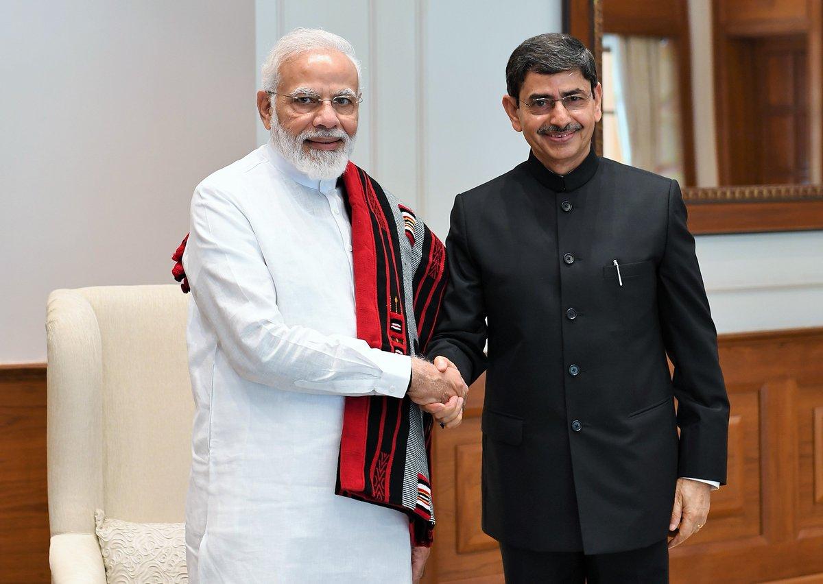"PMO India on Twitter: ""Nagaland Governor Shri RN Ravi called on PM @narendramodi.… """