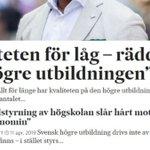 Image for the Tweet beginning: Debatten om kvalitén i högskolan