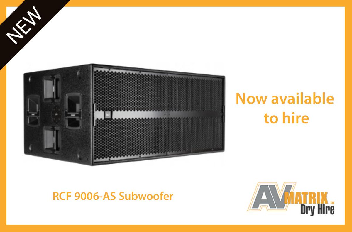 NEW: Now available to Hire: RCF 9006-AS Subwoofer! 🔊🔊 This