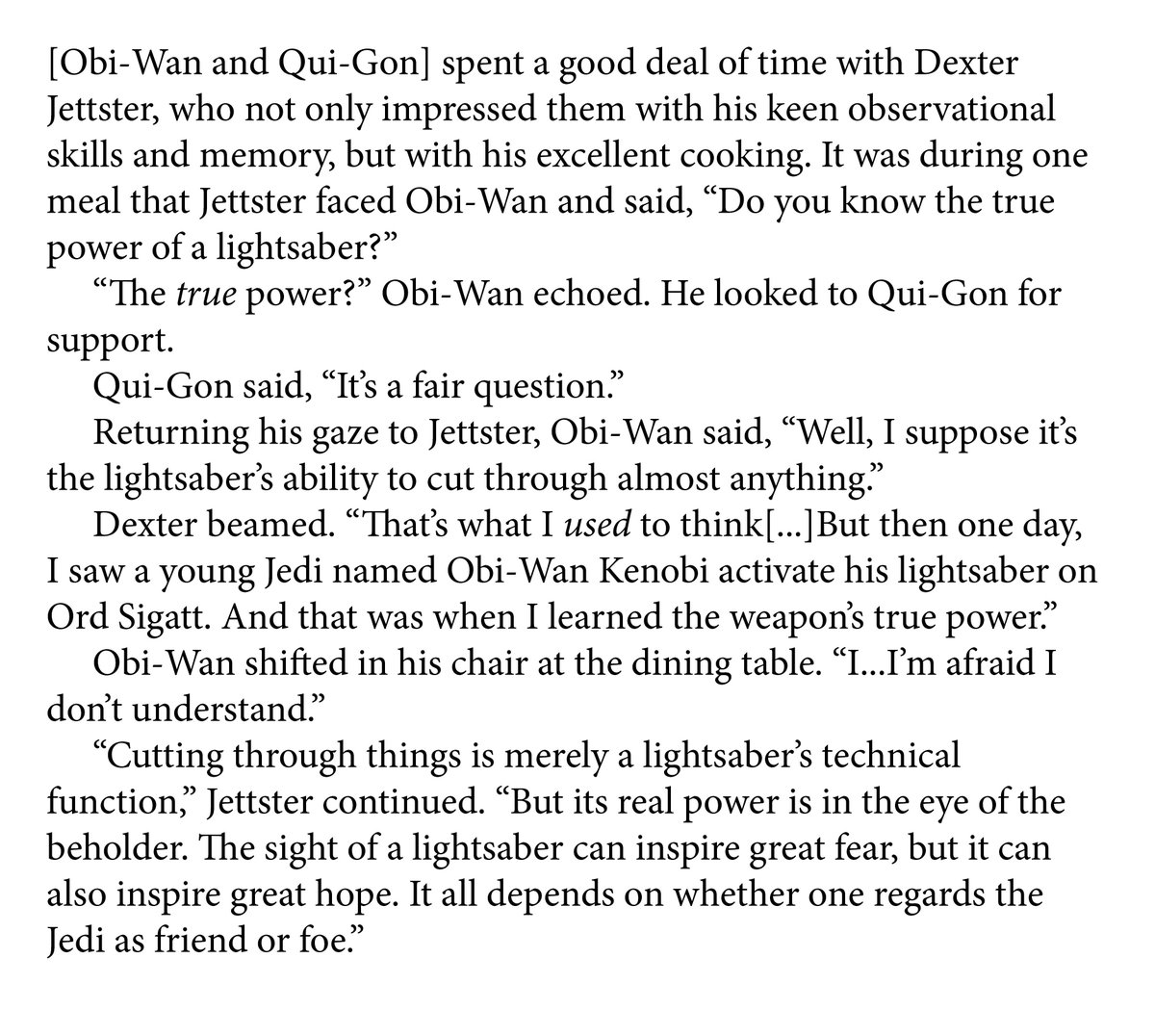'The Life and Legend of Obi-Wan Kenobi' by Ryder Windham (Legends) contains a story of Padawan Obi-Wan meeting #DexterJettster for the first time while on Ord Sigatt. #BookQuoteoftheDay #ObiWanKenobi #QuiGonJinn<br>http://pic.twitter.com/IBcDeWW3an