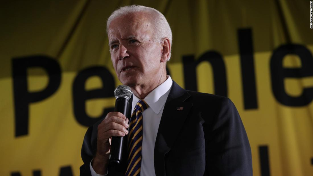 """Joe Biden says President Trump """"has fanned the flames of white supremacy in this nation"""" https://cnn.it/2Kx383M"""