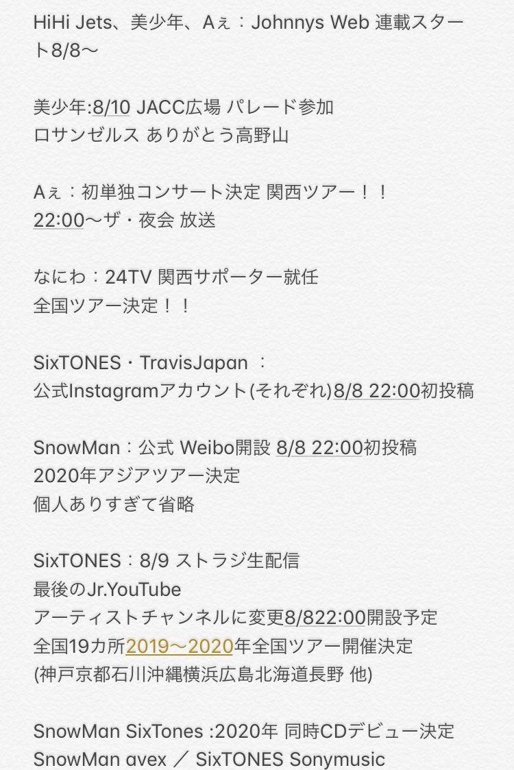 セトリ jr 祭り ジャニーズJr.8・8祭り ~東京ドームから始まる~