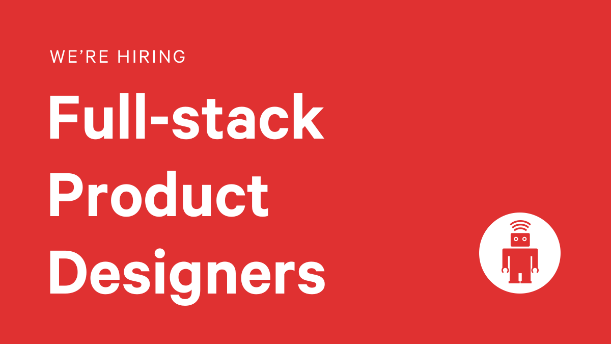 London Product Designers, were hiring! If youre passionate about creating great digital experiences from design to front-end build, take a look at the role and some of our great benefits here… thoughtbot.com/jobs/product-d… #ProductDesign #DigitalAgency #UXDesign #JobAlert