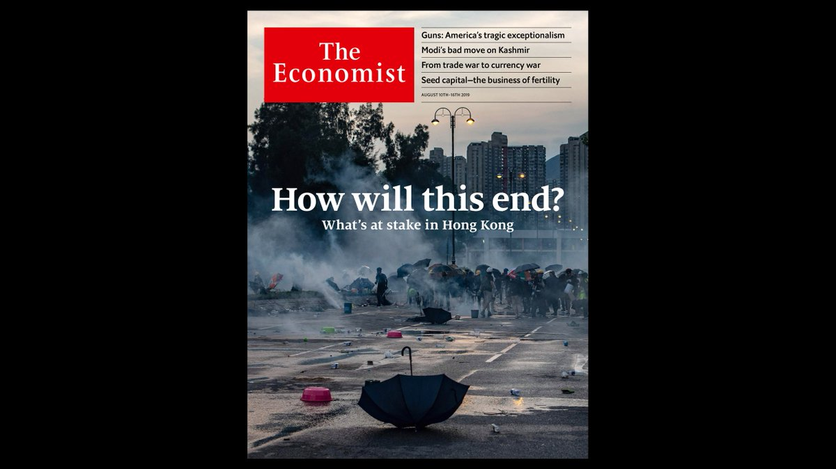 If China were to send the army into Hong Kong, the consequences would be disastrous and have global implications. Our cover this week https://econ.st/2Kx6uDU