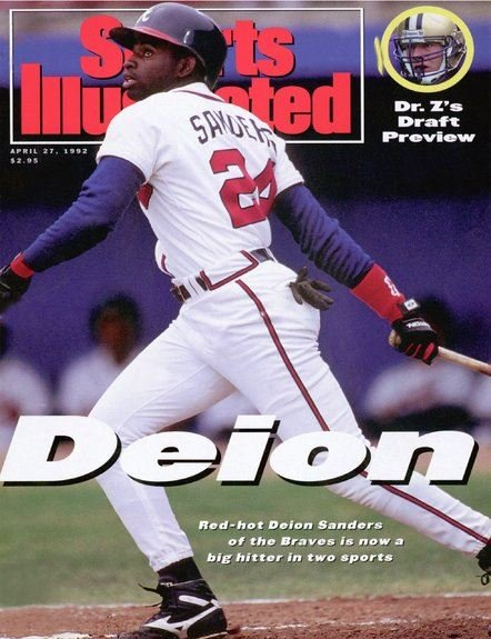 "August 9:Happy 52nd birthday to former baseball and football player,Deion Sanders(""Atlanta Falcons\"")"