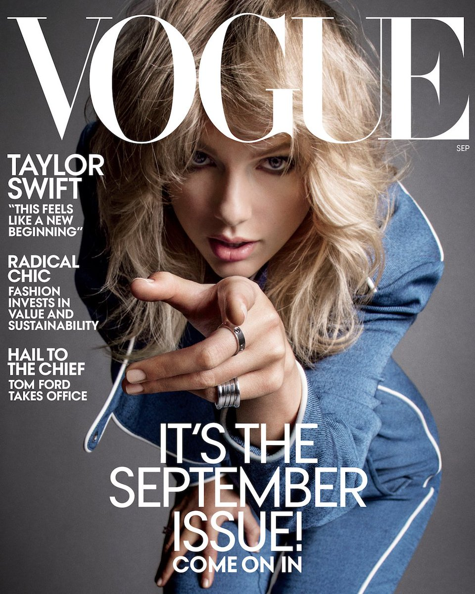 .@taylorswift13 is our September issue cover star! Read the full profile: http://vogue.cm/1FhEqOl