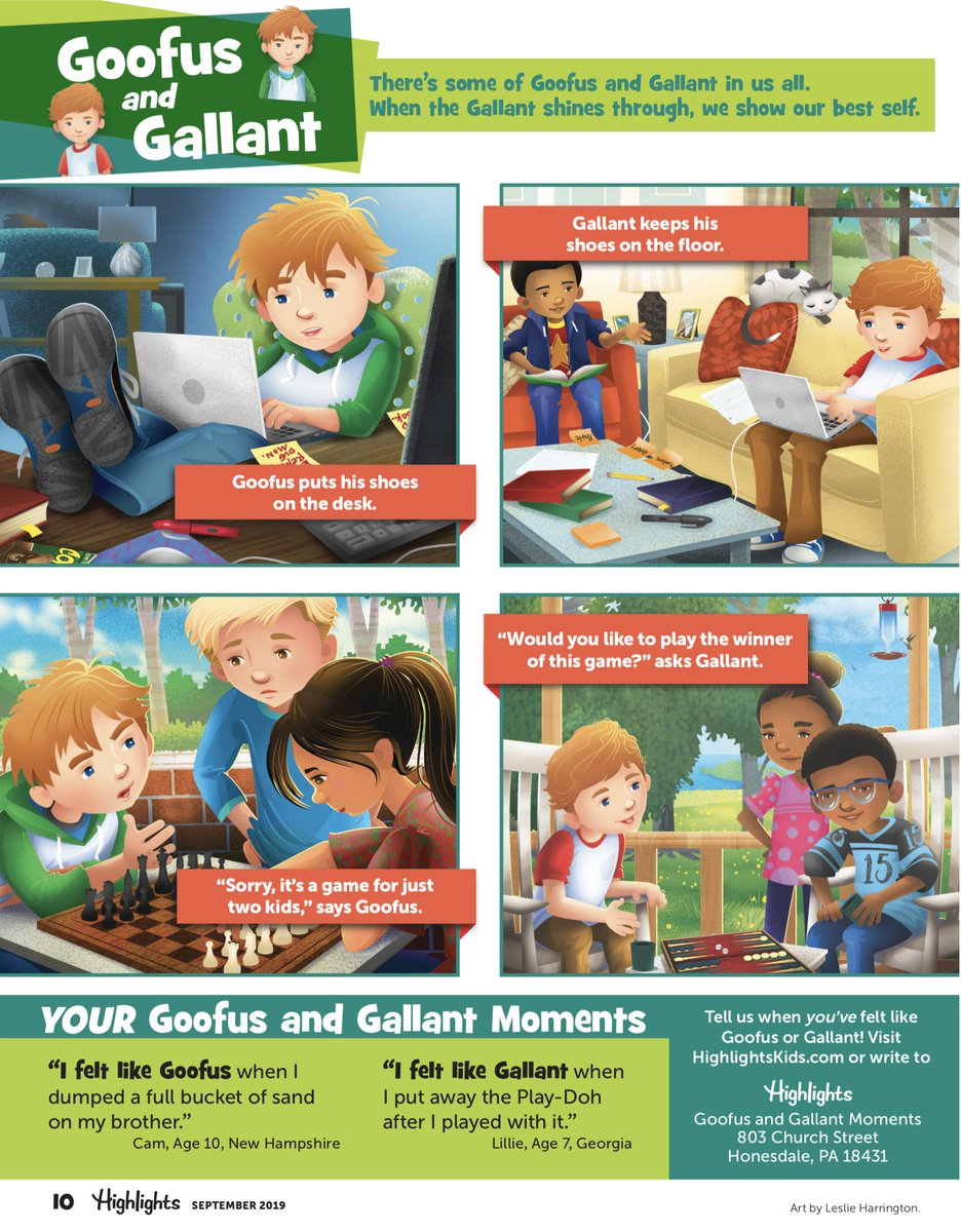 highlights on twitter yes goofus and gallant are still a regular feature in highlights here s what they were up to in our most recent issue https t co dpsphvtbl2 highlights on twitter yes goofus and