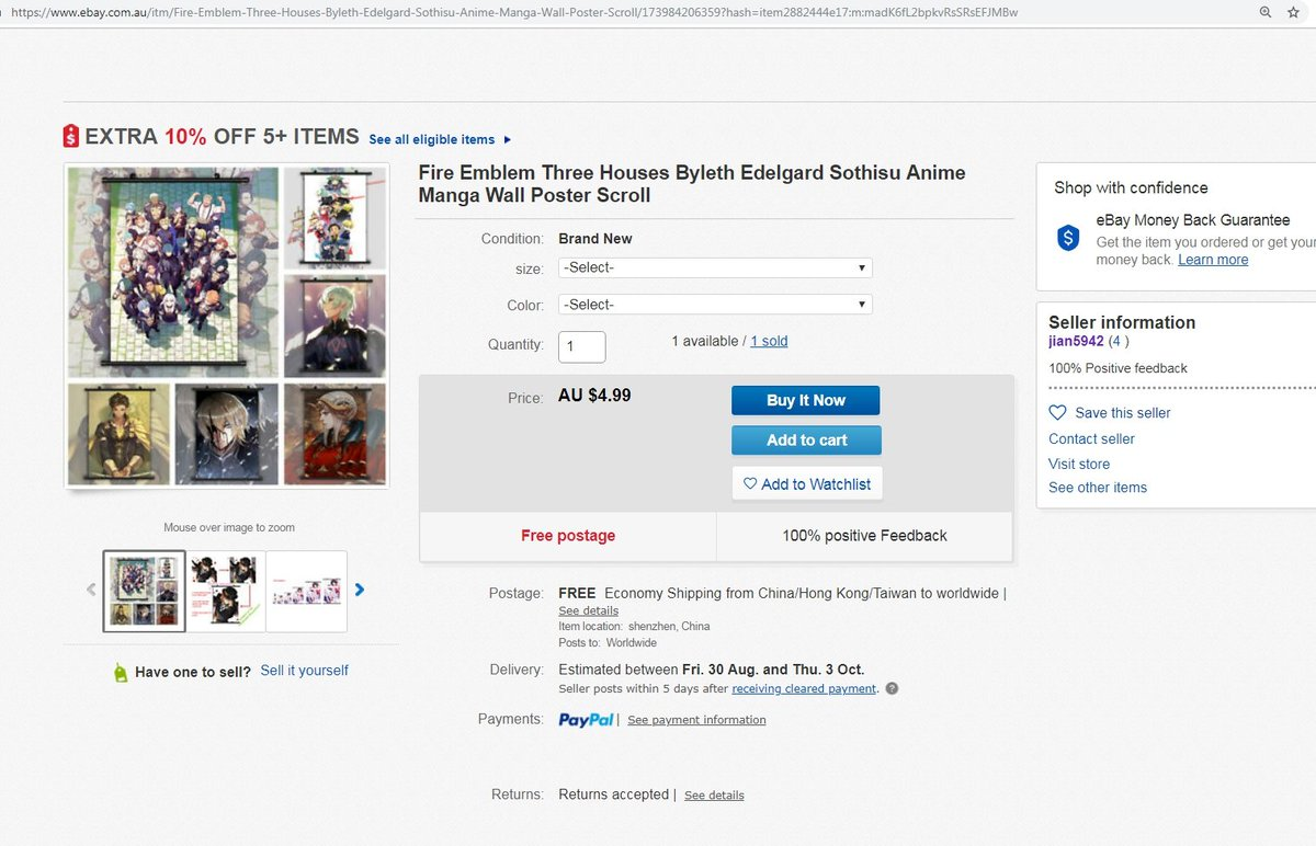 Kaejunni On Twitter Art Theft It Have Brought To My Notice That An Ebay Seller Have Been Selling My Edelgard Piece Without My Permission Note That Any Other Website Other Than