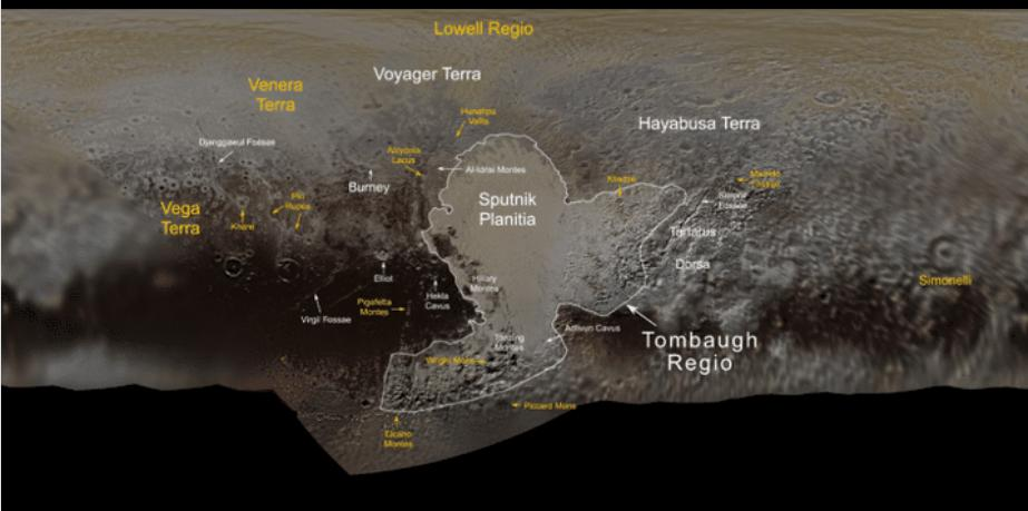 Whats in a name? A lot, if youre a feature on #Pluto! Several people and missions who paved the way for the exploration of Pluto & the #KuiperBelt are honored in the second set of official Pluto feature names approved by @IAU_org! bit.ly/2MXqjqX