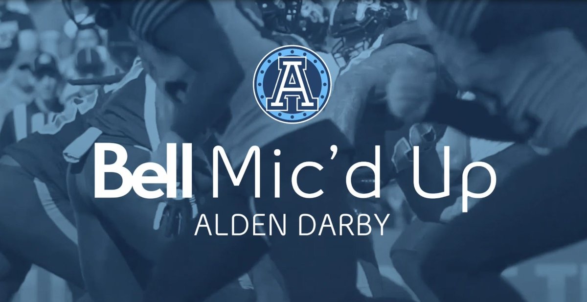 We've mic'd up the players on the @TorontoArgos so you can hear what goes through their minds while they're on the field! Check out what defensive back @Pic6Darb has to say as he plays.