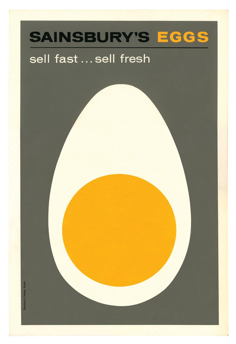 Day 76 of #Sainsburys150 is this 1960s in-store poster for Sainsbury's eggs