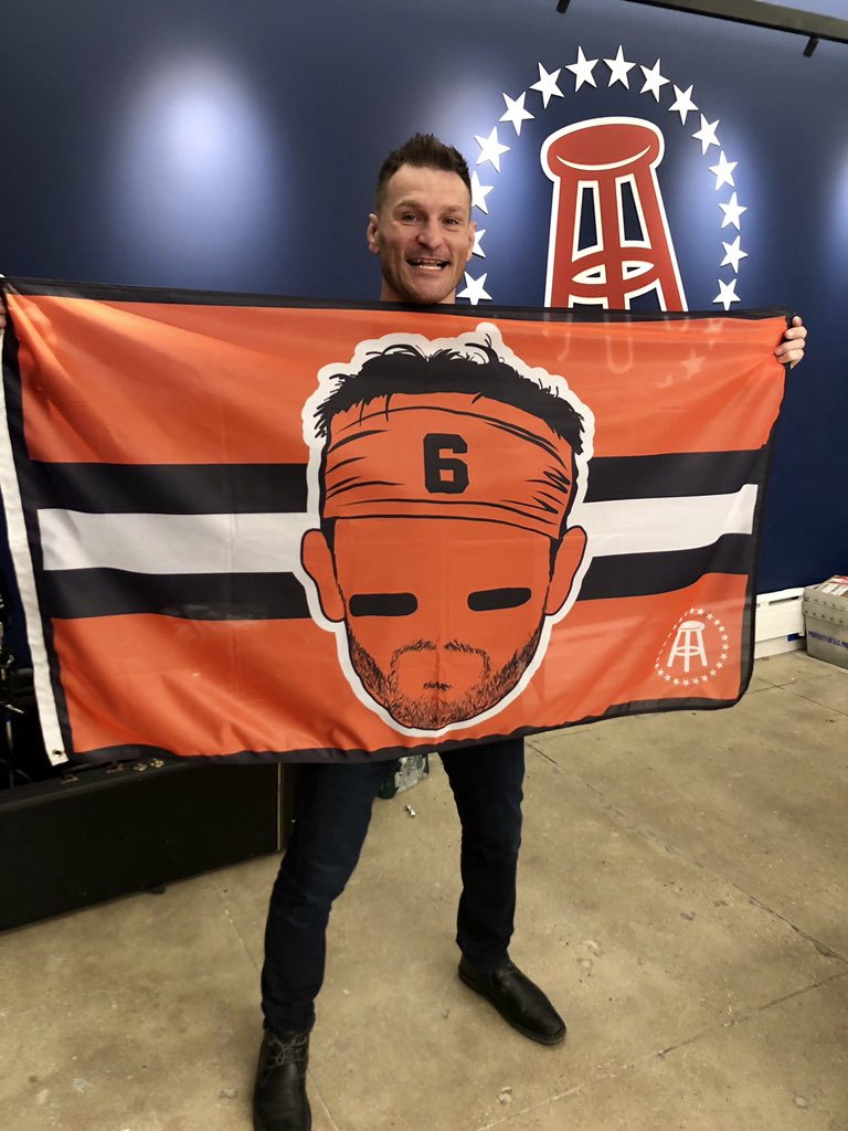 Kicking off @Browns season!!! Thank you to my friends at @barstoolsports today for the gift. @bakermayfield LET'S GO!!!! #SM