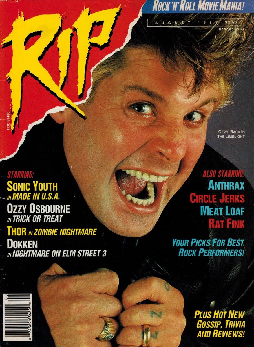 August 1987 #tbt RIP Magazine Cover image: @MarkWeissguy