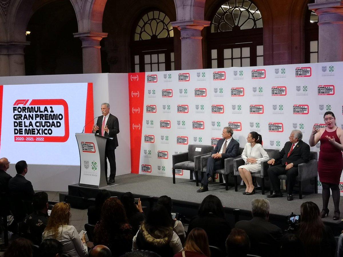 Se confirma la extensión de contrato del #MéxicoGP de #F1. El nuevo acuerdo será por tres años, de 2020 a 2022. https://t.co/VQRsaXp74x