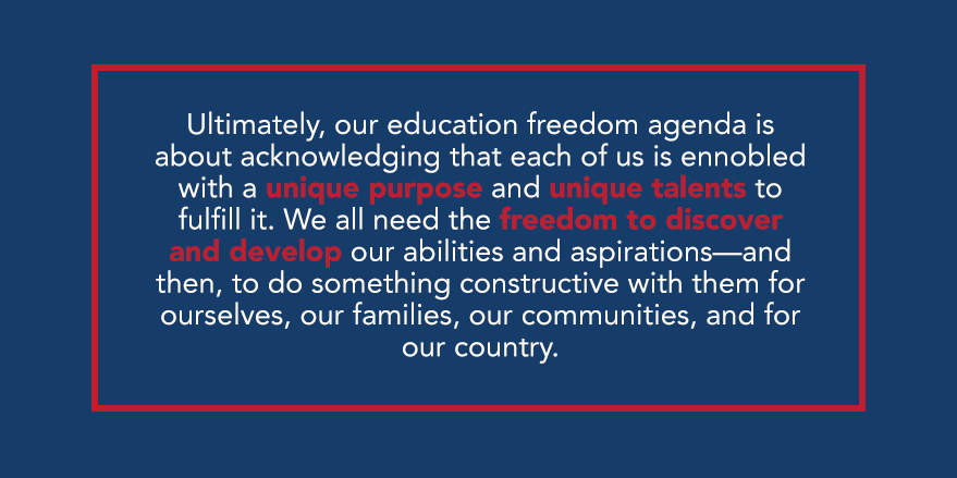 Why do I advocate for #EducationFreedom? ⬇️