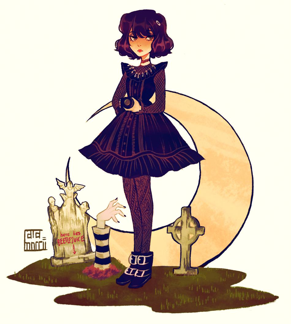 Chelsea Working Cg Brainrot On Twitter Been In A Musical Binge Lately I Really Love Lydia S New Costume In Beetlejuice