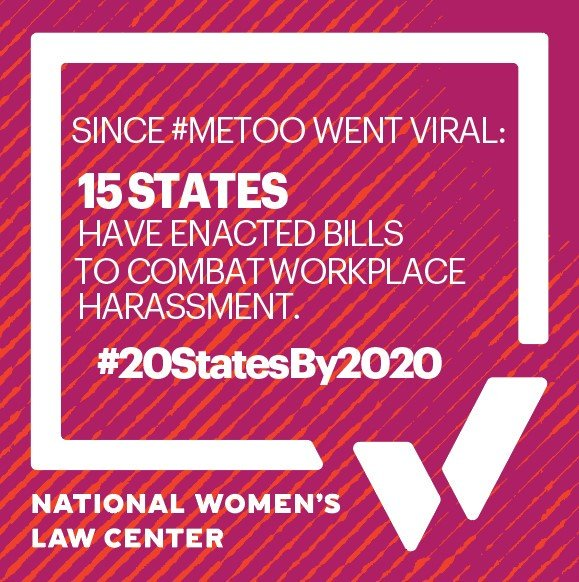 I signed the #20StatesBy2020 pledge because workplace harassment law reform is a necessity.
