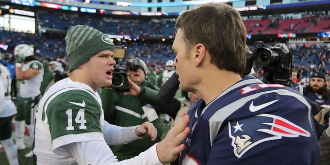 Sam Darnold passed on wishing Tom Brady happy birthday to keep \competitive edge.\