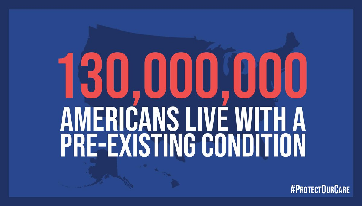 Make no mistake, the GOP is still fighting to deny 130 million Americans with pre-existing conditions the right to health care coverage. This is unacceptable.  @HouseDemocrats believe every American has a right to quality, affordable health care. #ProtectOurCare https://t.co/nwbMMr9TNs