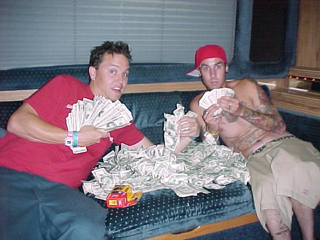 "1999: ""Ugh blink-182 signed to a major label they totally sold out!"" Me and Travis:"