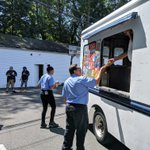 Image for the Tweet beginning: The ice cream truck visited