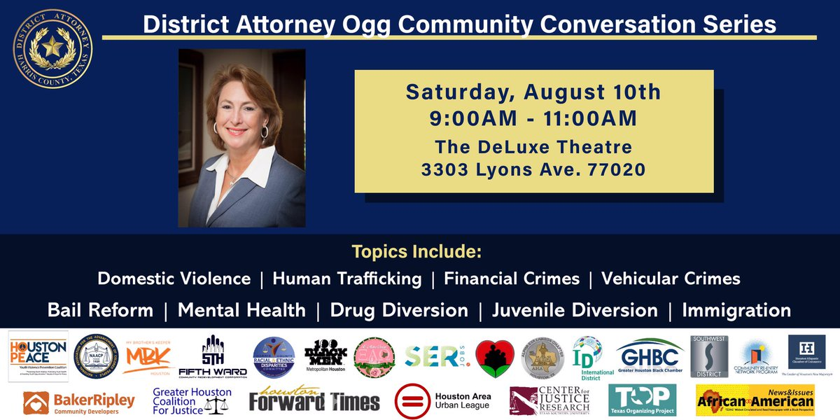 Join us this Saturday for our next community conversation in the Fifth Ward community!