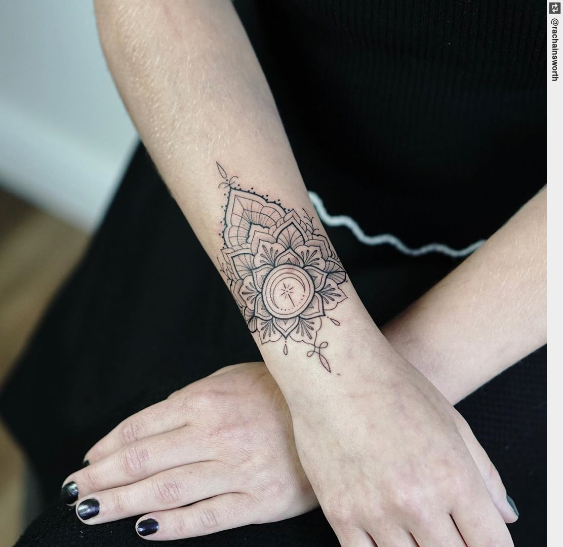 "Tattoo Ness on Twitter: ""Sacral chakra mandala cuff for Jennifer ..."