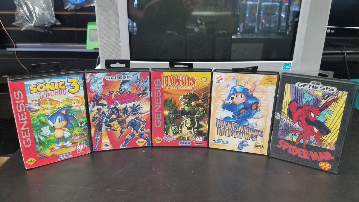 another castle games on twitter marysville is at it again with the sega genesis titles that are complete in their original boxes pictured here we have sonic the hedgehog 3 x men dinosaurs another castle games on twitter