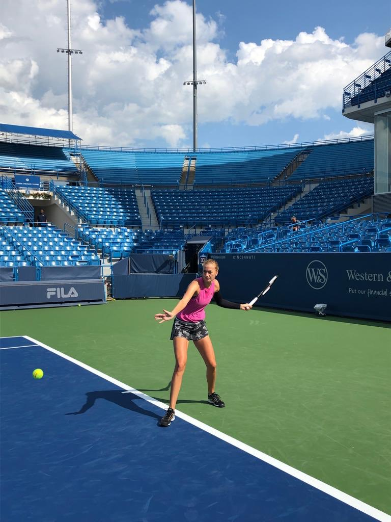 Feels like a long time since I last posted a tennis picture! Great to see you again @CincyTennis 👋😀