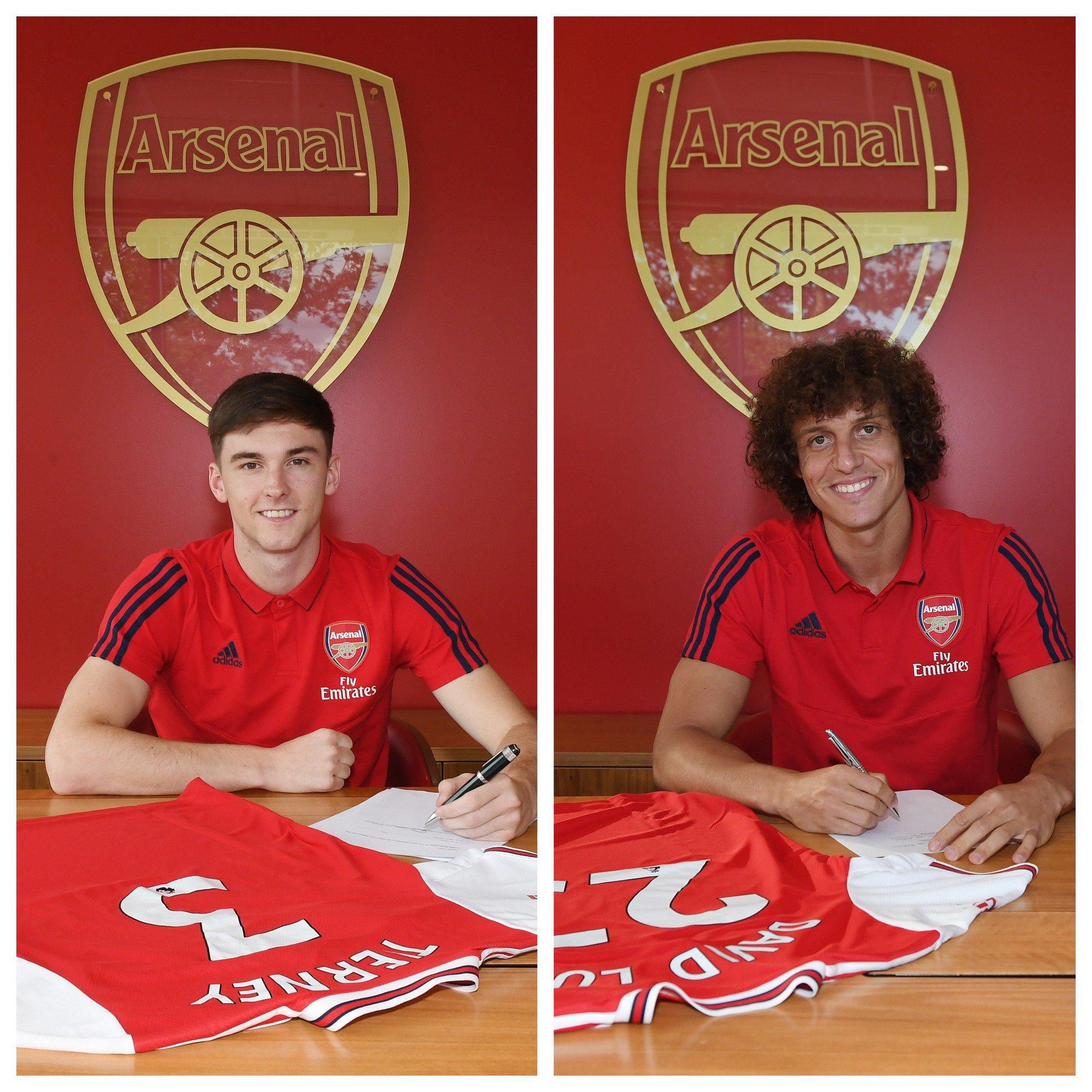 Dua rekrutan baru Arsenal, Kieran Tierny dan David Luiz