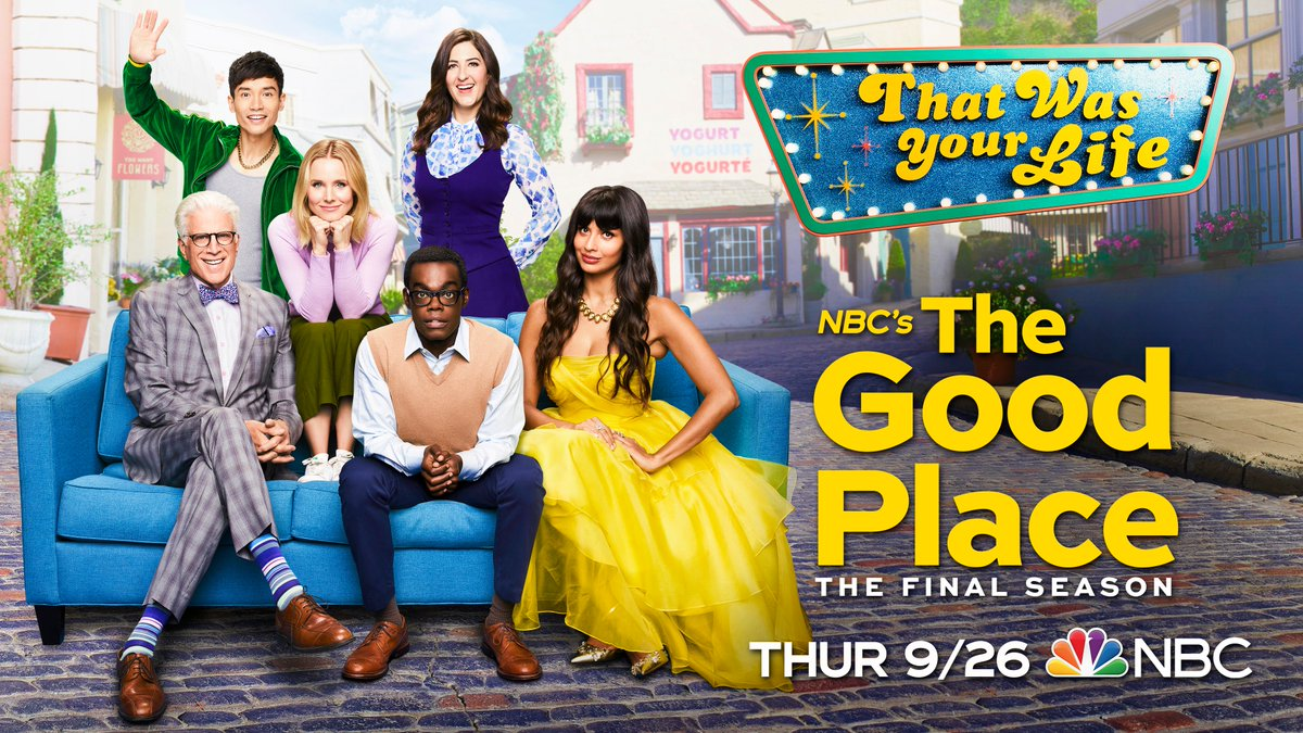 All's good that ends good. ✨ Meet us in #TheGoodPlace for the final season Thursday, September 26 on @NBC!