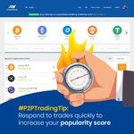 Image for the Tweet beginning: ⚡️ #P2PTradingTip: Always respond to