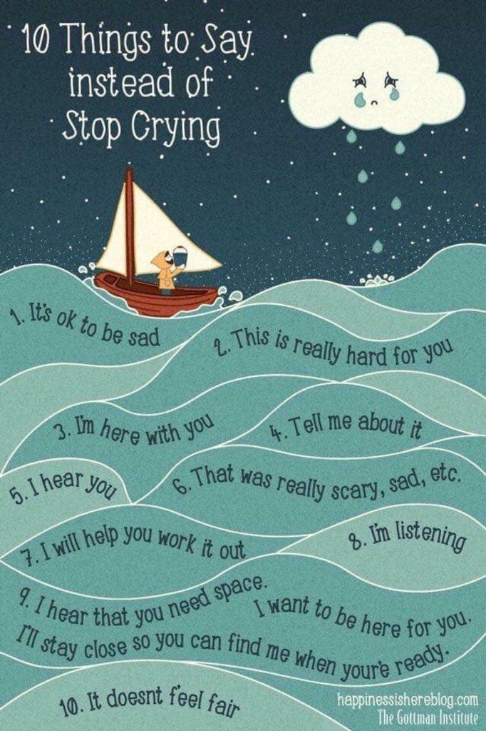 10 Things to Say instead of Stop Crying by @jenquattrucci