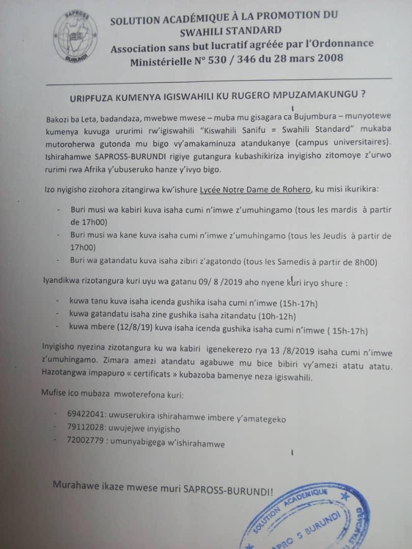 Sapross-Burundi (@SaprossB) | Twitter