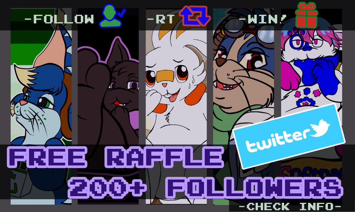 200 #FreeRaffle (Twitter Edition) Rules:  One winner will receive colored Half Body or Badge pic.  RT & follow to enter!  No raffle/Alt accounts RTs, plz  Raffle ends: Aug 25th  250 Followers and i'll add a second winner!  GOOD LUCK! (1/2) <br>http://pic.twitter.com/kl867eHsNC