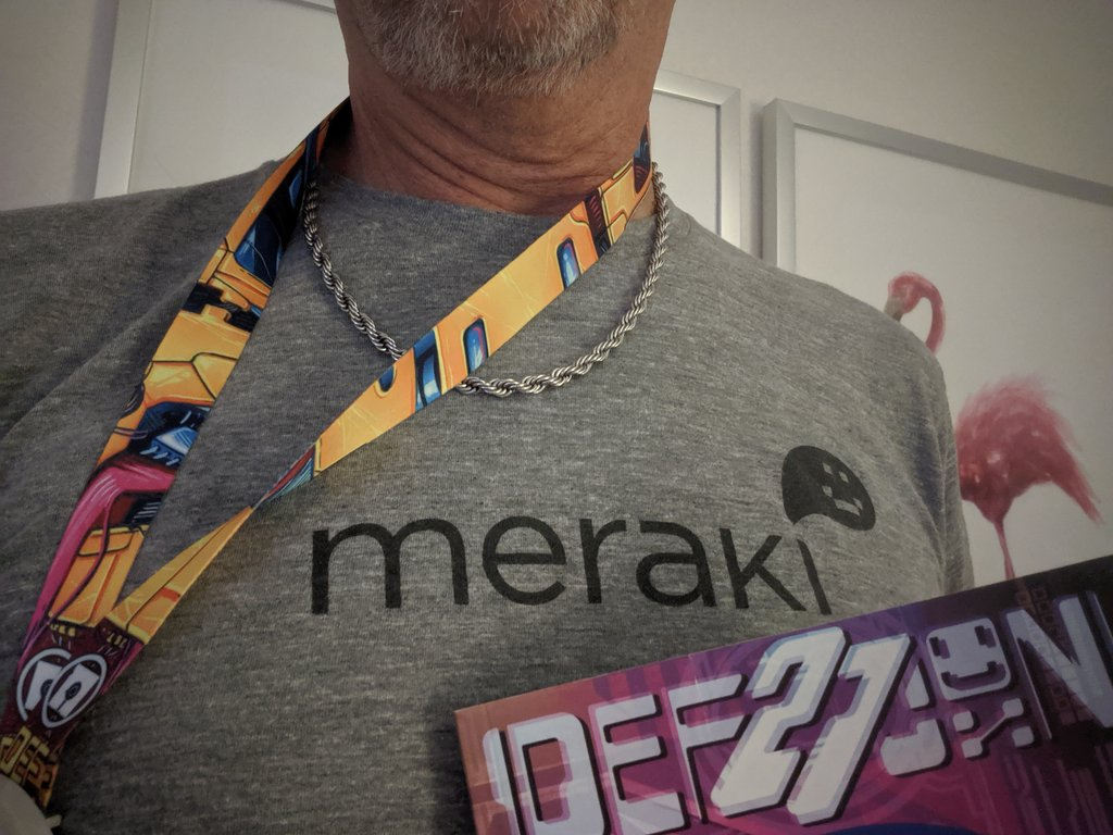 This year I brought a little vintage @meraki to @defcon !!