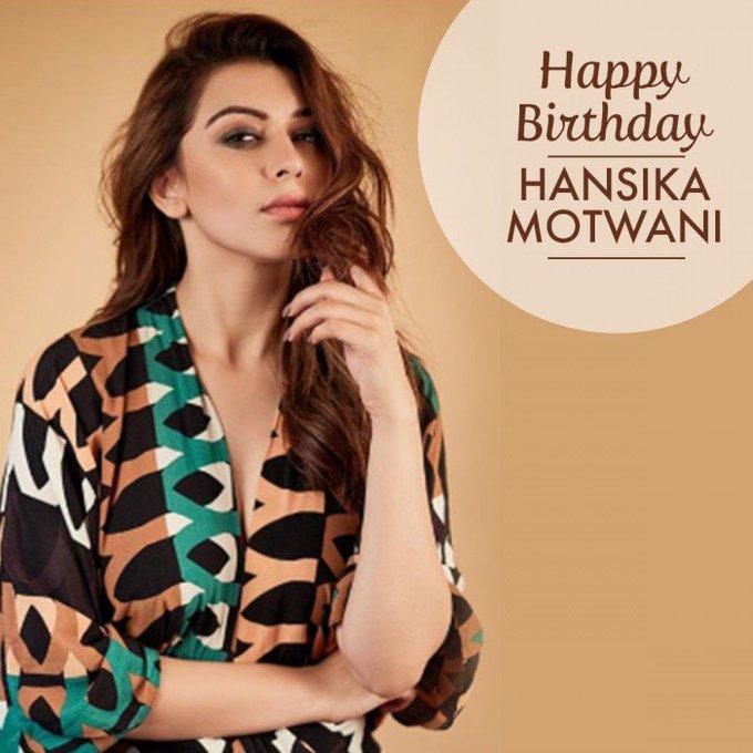 Vendhar TV wishes Hansika Motwani a splendid Happy Birthday !!