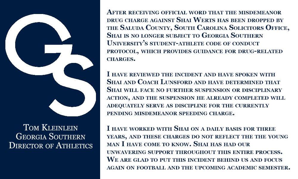 Ga  Southern Football on Twitter: