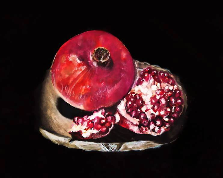 Pomegranate, watercolor painting #monikatemesvariart #artist #Hungary<br>http://pic.twitter.com/2AqvvvgyfN