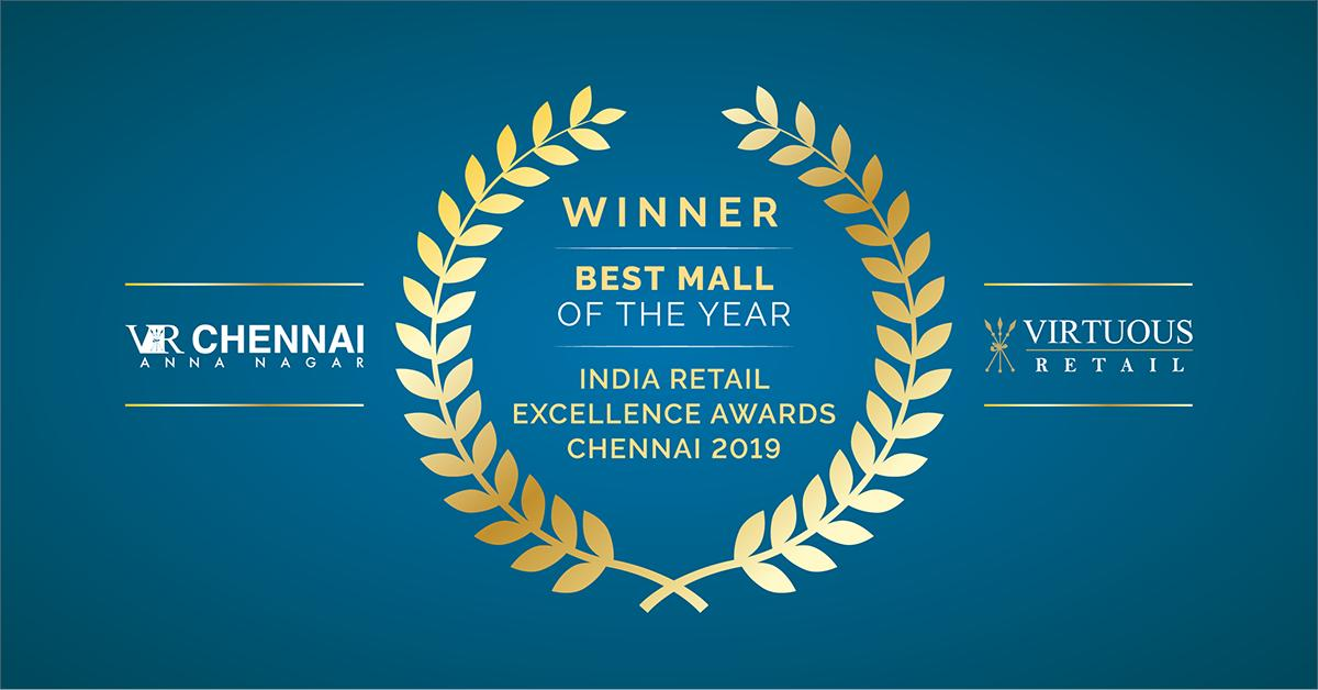 """We are stoked to announce that @VRChennai has been recognised as the """"Best Mall of the Year"""" at @rai_india's India Retail Excellence Awards 2019. Natasha Soni, Centre Head, received the award from @ikamalhaasan, superstar of Indian Cinema.   #VirtuousRetail #WeAreVirtuousRetail https://t.co/LMM4n59Zlf"""