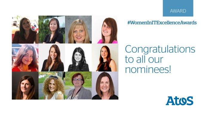 Atos has been shortlisted 14 times in the #WomeninITExcellenceAwards including...