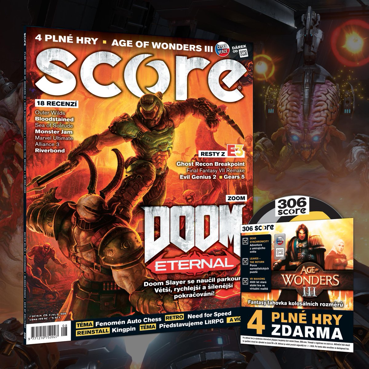 Venku už je nové pekelné SCORE 306. Doom! https://t.co/2nRrvNuhaq