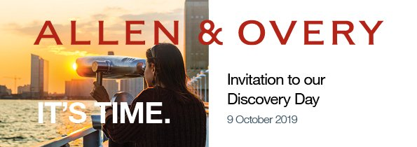 Are you a Belgian law student about to start your 1st Master, 2nd Master or MaNaMa and planning to start working as from 2021 or later? Interested in learning more about @AO_BE? Register now for the A&O Belgium Discovery Day on 9 October 2019:  https://www. lexgo.be/en/jobs/allen- overy-belgium-llp/a-amp-o-discovery-day,130112,EN11362.html   … <br>http://pic.twitter.com/TxFL1Xn2AJ