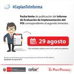 Image for the Tweet beginning: #CeplanTeInforma  Hasta el 29 de